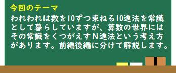 Newみんなの算数講座50 ザ・N進法(前編)